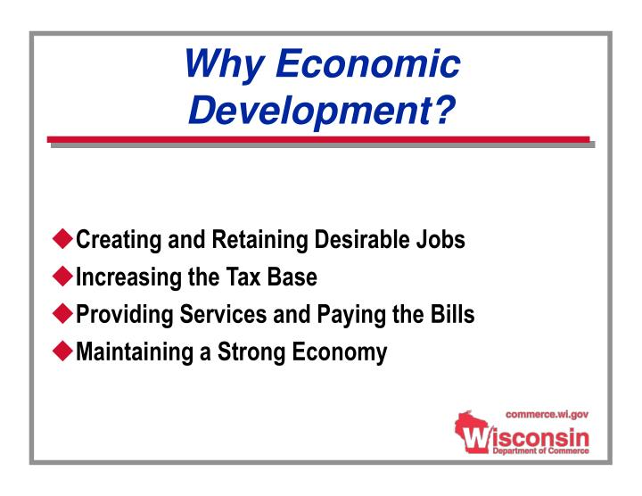 Why Economic Development?