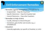 civil enforcement remedies