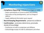 monitoring injunctions