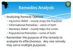 remedies analysis