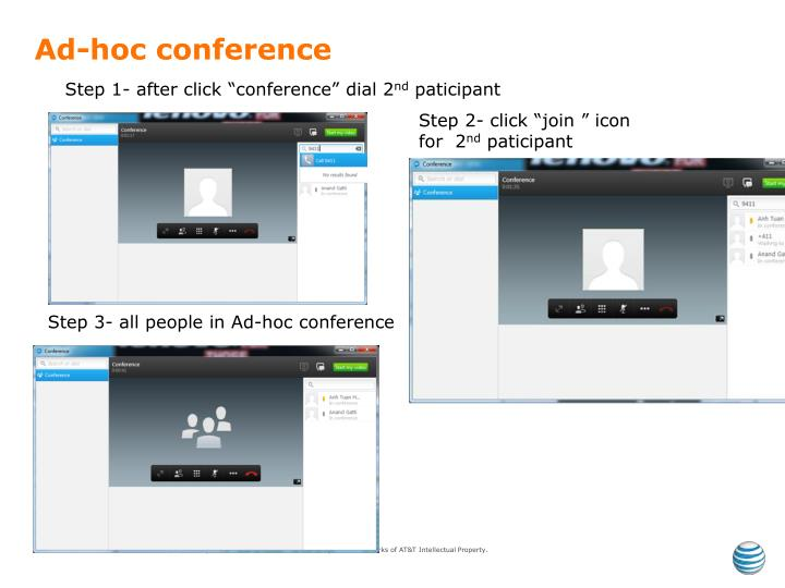 Ad-hoc conference