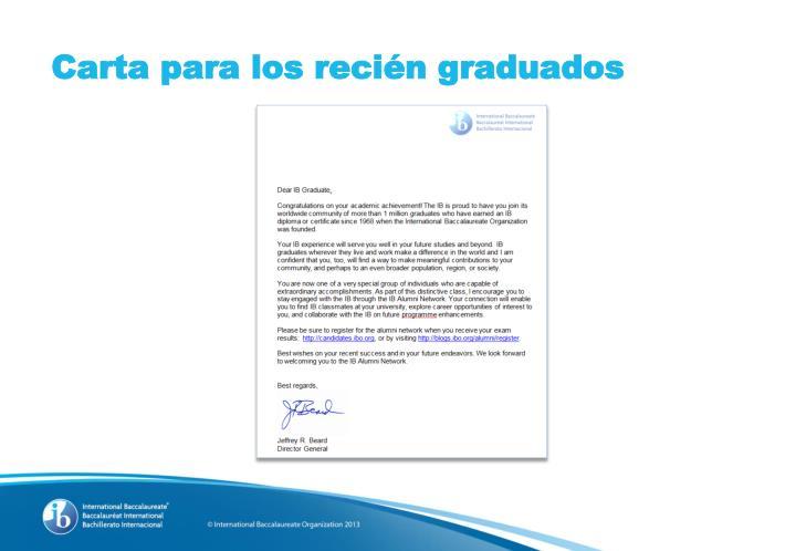 Carta para los recién graduados