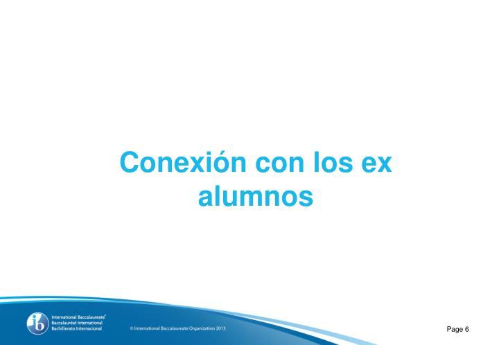 Conexión con los ex alumnos