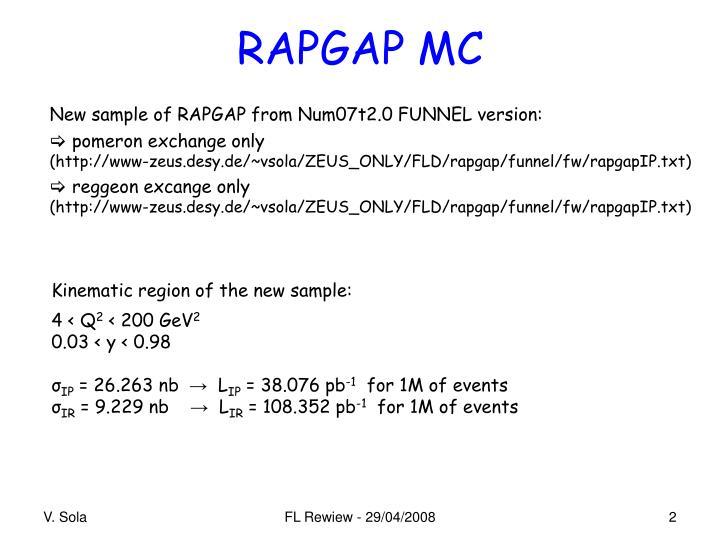 RAPGAP MC