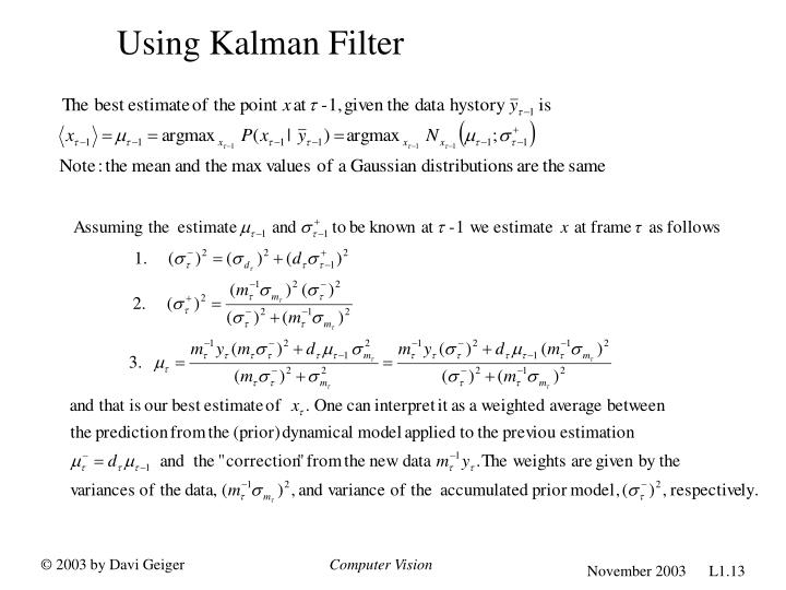 Using Kalman Filter