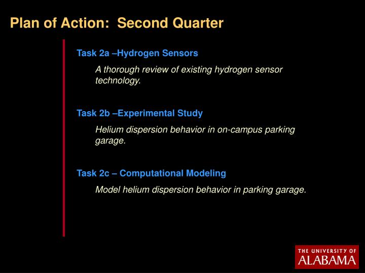 Plan of Action:  Second Quarter
