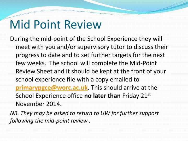 Mid Point Review