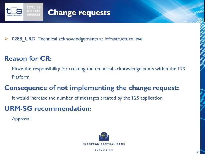 Change requests