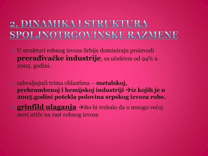 U strukturi robnog izvoza Srbije dominiraju proizvodi