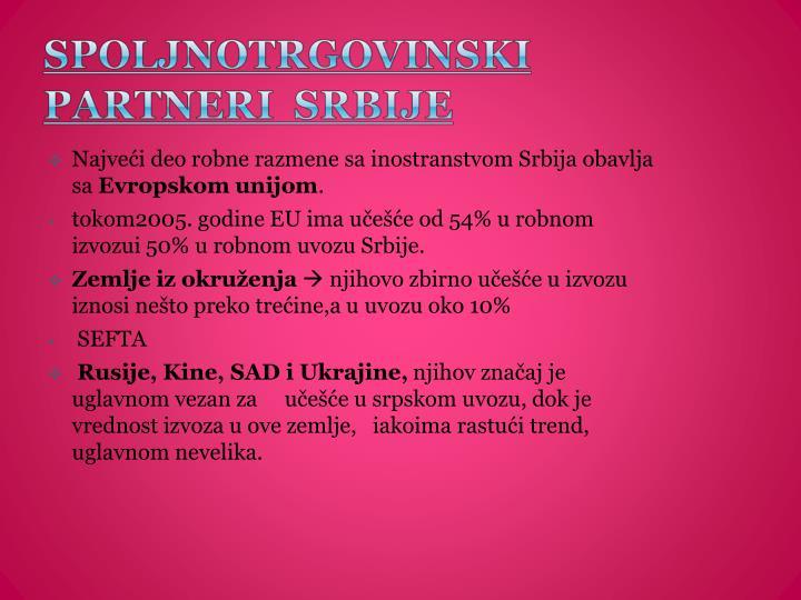 Najveći deo robne razmene sa inostranstvom Srbija obavlja sa