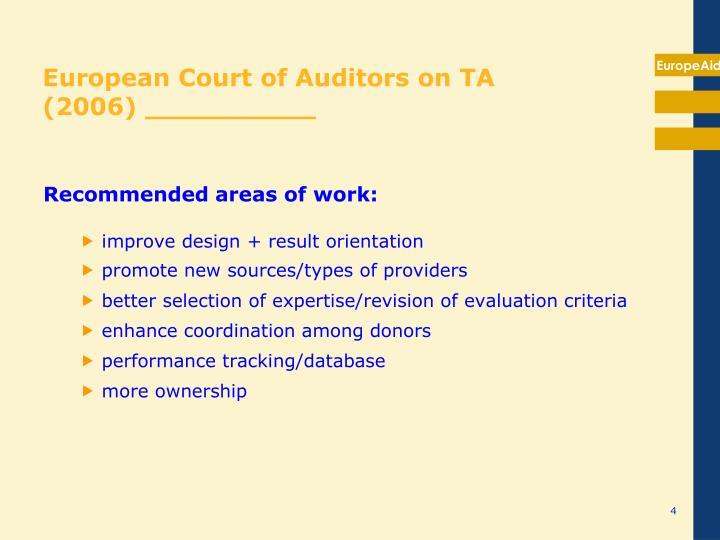 European Court of Auditors on TA
