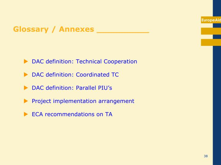 Glossary / Annexes __________