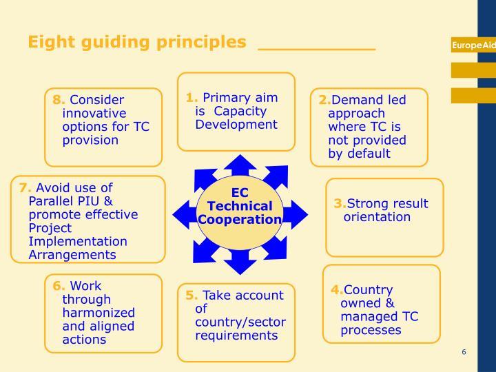 Eight guiding principles  __________