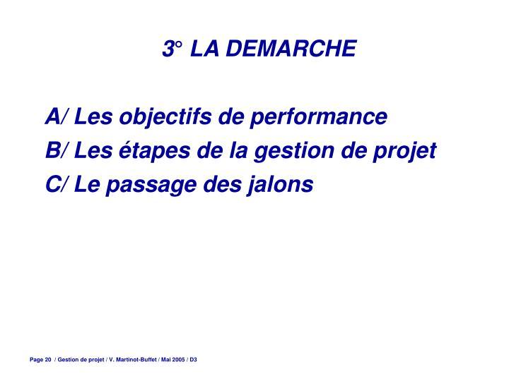 3° LA DEMARCHE