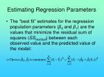 estimating regression parameters