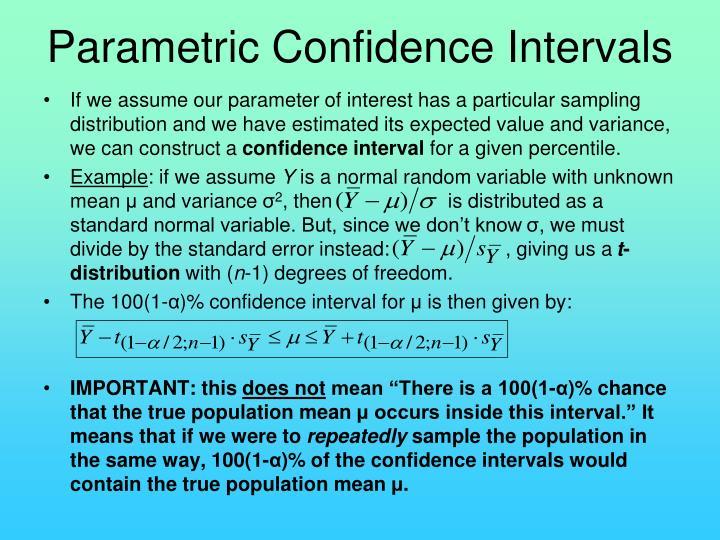 Parametric Confidence Intervals
