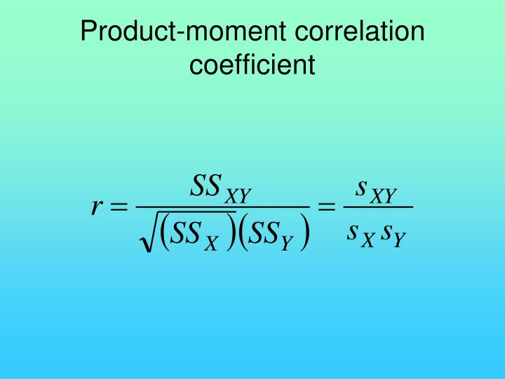 Product-moment correlation coefficient