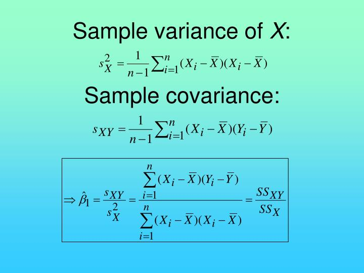 Sample variance of