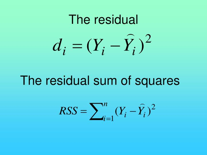 The residual