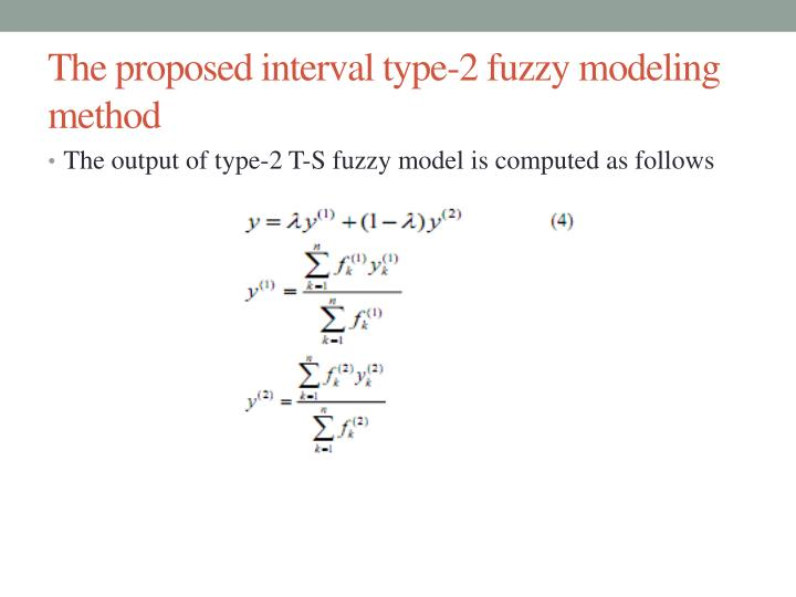 The proposed interval type-2 fuzzy modeling method