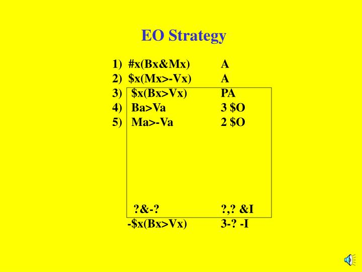 EO Strategy