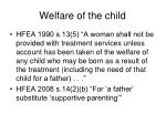 welfare of the child