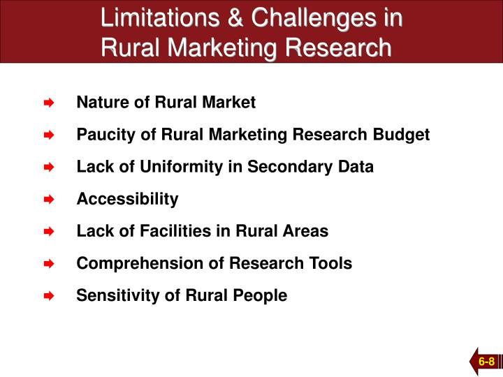 Limitations & Challenges in