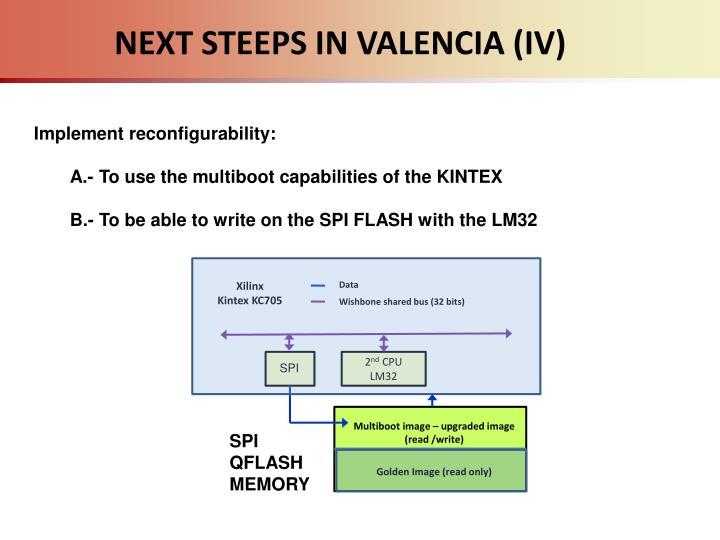 NEXT STEEPS IN VALENCIA (IV)