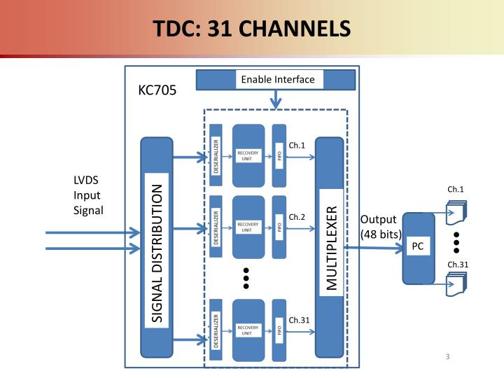 TDC: 31 CHANNELS