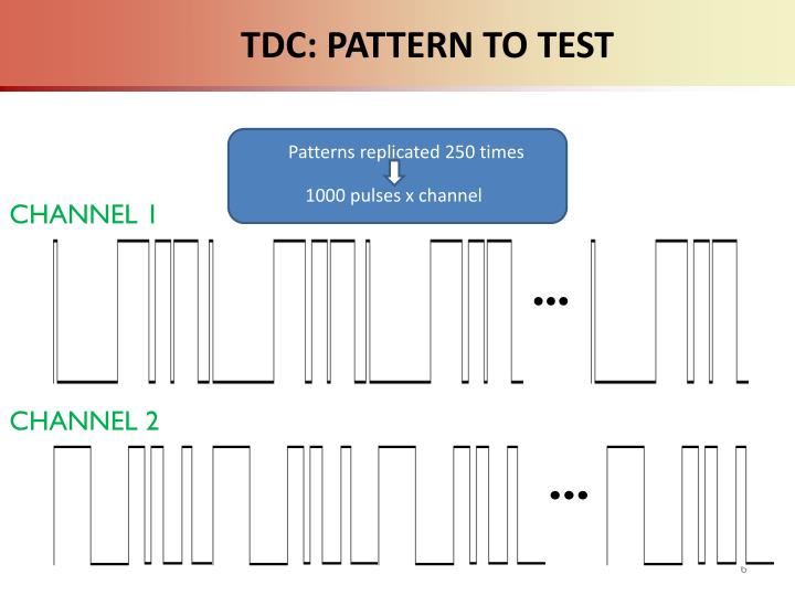 TDC: PATTERN TO TEST