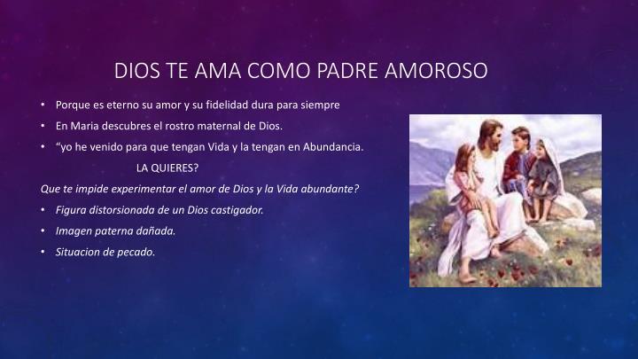 Dios te ama como padre amoroso