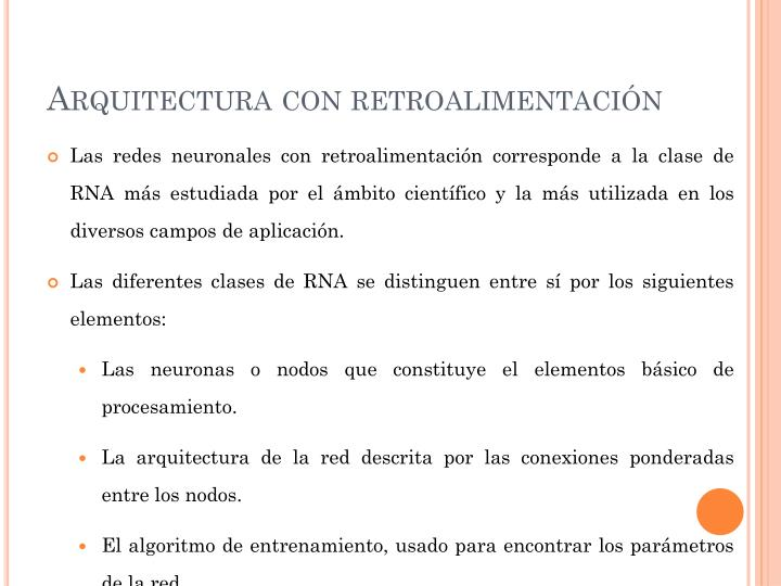 Arquitectura con retroalimentación
