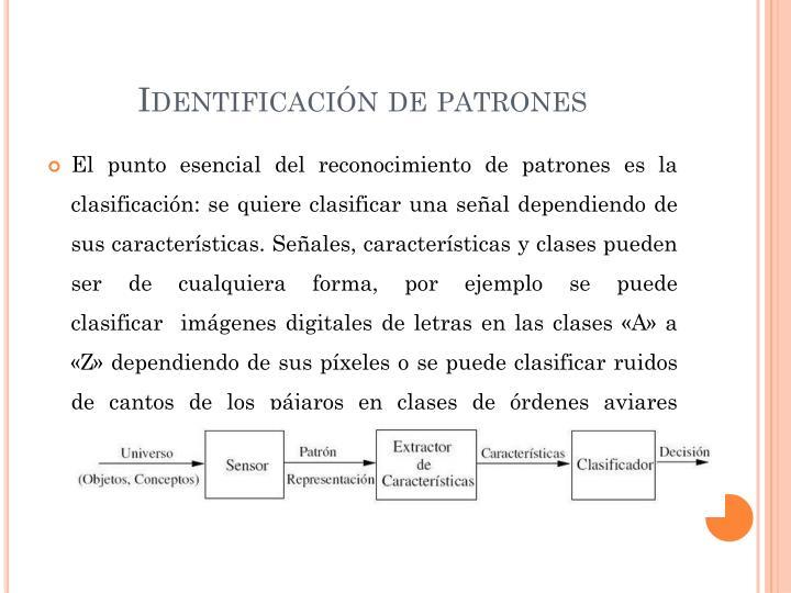 Identificación de patrones