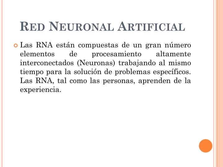 Red neuronal artificial