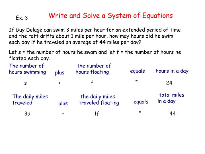 Write and Solve a System of Equations