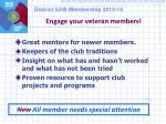 engage your veteran members