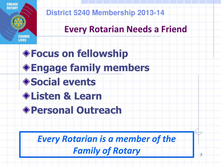 Every Rotarian Needs a Friend