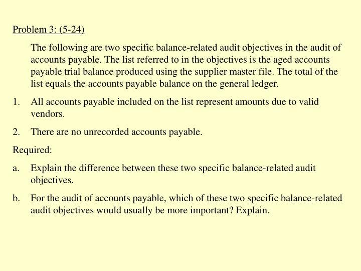 Problem 3: (5-24)