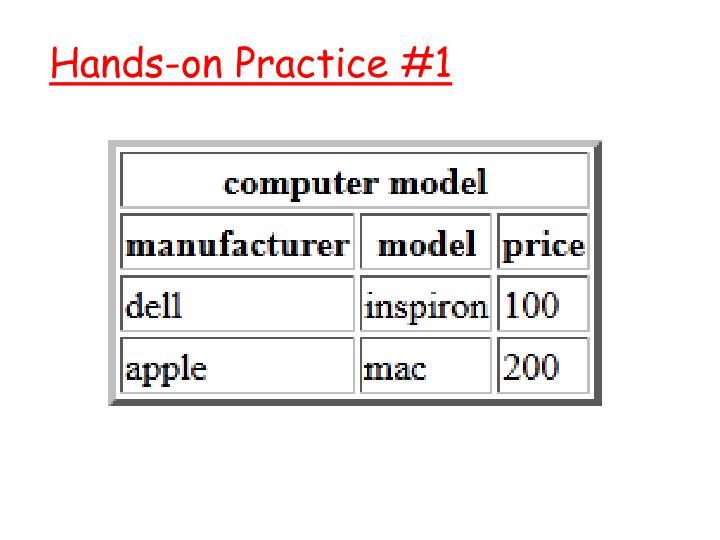 Hands-on Practice #1