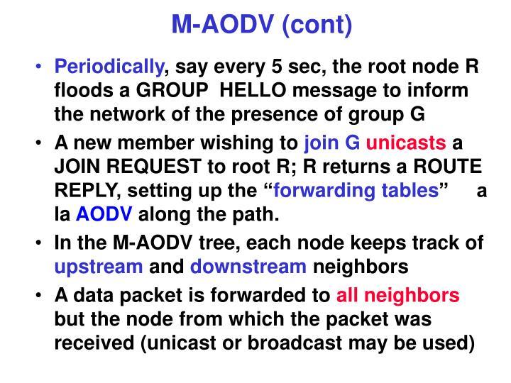 M-AODV (cont)