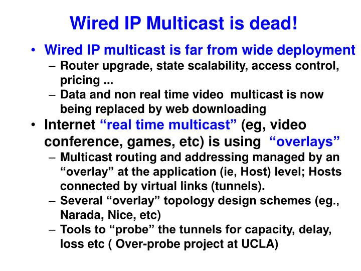 Wired ip multicast is dead