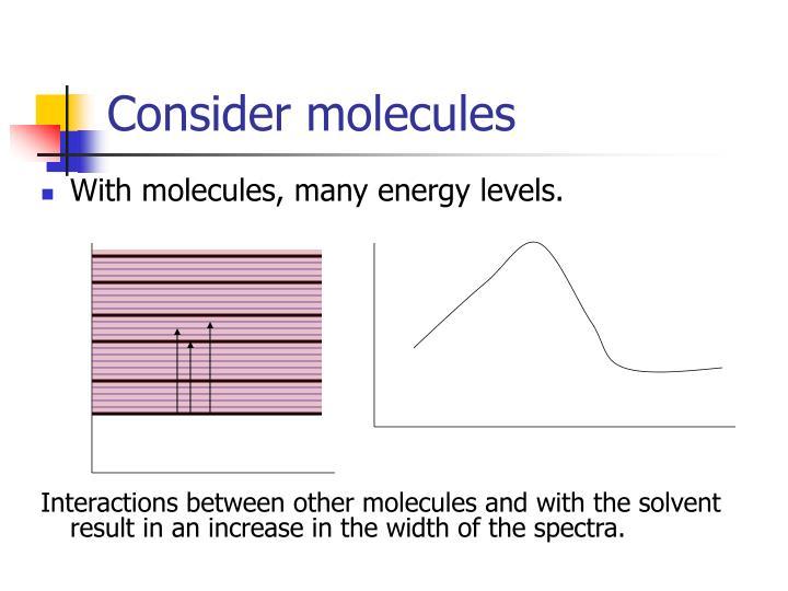 Consider molecules