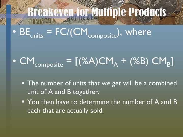 Breakeven for Multiple Products