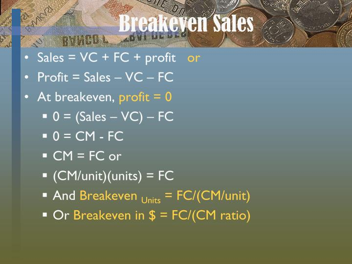 Breakeven Sales