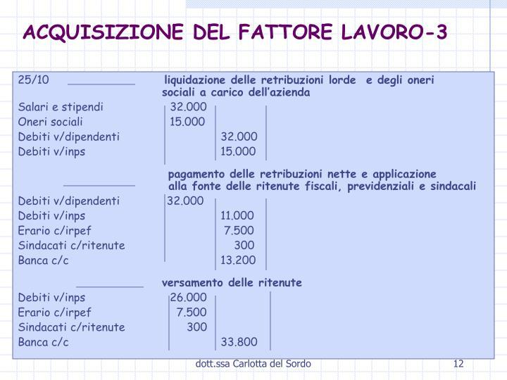 ACQUISIZIONE DEL FATTORE LAVORO-3