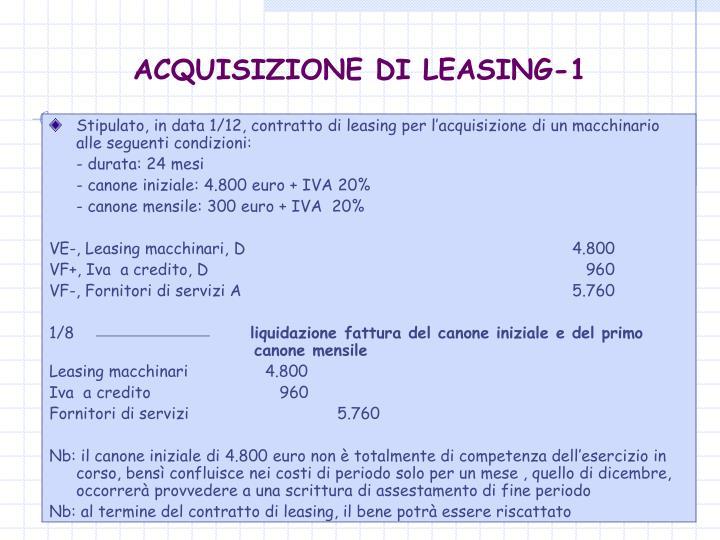 ACQUISIZIONE DI LEASING-1