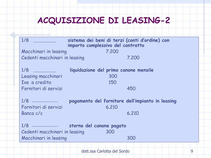 ACQUISIZIONE DI LEASING-2