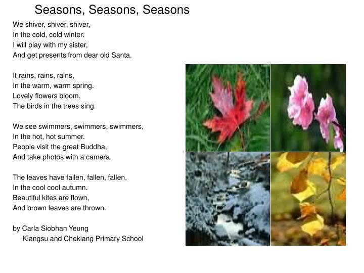 Seasons, Seasons, Seasons