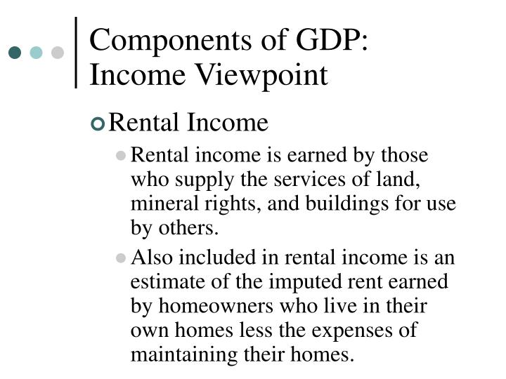 Components of GDP: Income Viewpoint