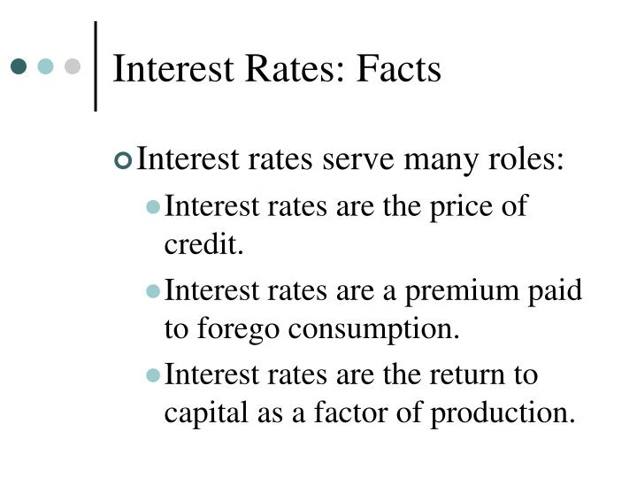 Interest Rates: Facts